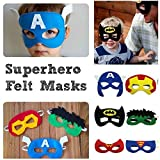 old avengers - Superheroes Party Masks for Boys- Party Bag Favors or Stocking Fillers, Pack of Fourteen Superhero Masks- Perfect for Children or Boys Aged 3+