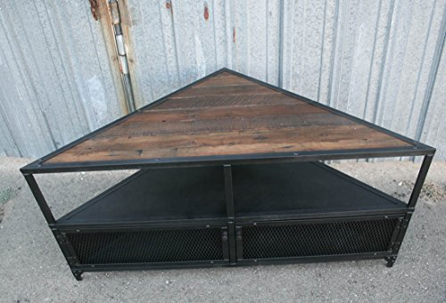 Reclaimed wood, Industrial Steel TV Corner Unit