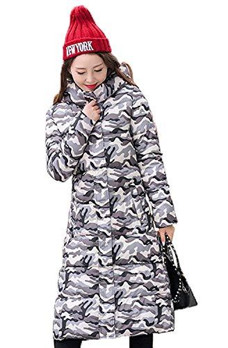 Lunghe Forti Maniche Piumini Grau Trapuntato Calda Fashion Taglie Sottile Costume Trapuntata Cappotto Giacca Donna Outdoor Invernale Lunga Incappucciato Parka Huixin Giorno Eleganti 7X1OqwRW