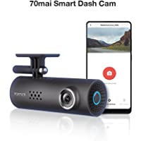70mai Smart Dash Cam with Built-in Wifi, Featuring Voice Control, Emergency Recording, APP Control Dashboard, HD 1080P, 130° Wide Angle Car Camera Recorder with Night Vision, G-Sensor, Car DVR