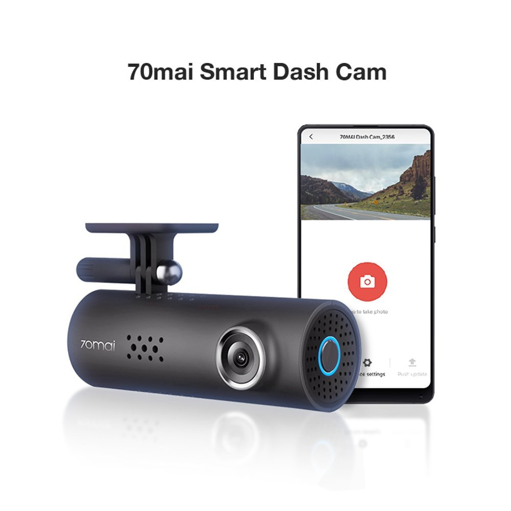 70mai Smart Dash Cam with Built-in Wifi, Featuring Voice Control, Emergency Recording, APP Control Dashboard, HD 1080P, 130° Wide Angle Car Camera Recorder with Night Vision, G-Sensor, Car DVR by 70mai