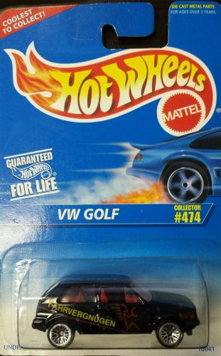 Collectible Golf (#474 VW Golf 5-Spoke Wheels Fahrvergnugen Tampo Collectible Collector Car Mattel Hot Wheels)