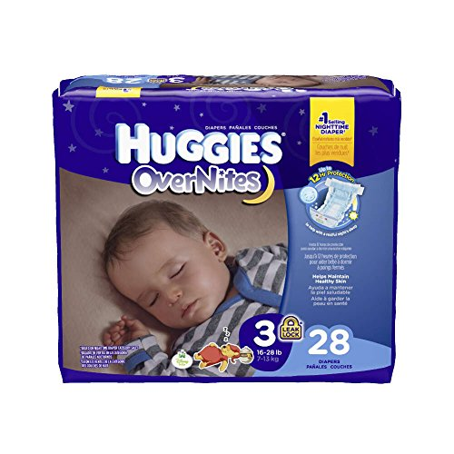 Kimberly-Clark 40682 Huggies Overnite, Size 3, 16-28 lbs. (Pack of 112) by Kimberly-Clark