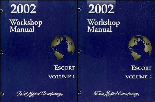 2002 Ford Escort and ZX-2 Repair Shop Manual 2 Volume Set Original
