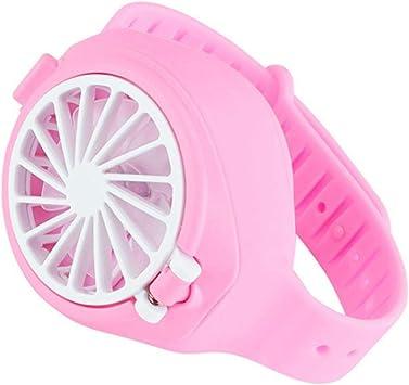2020 Mini Ventilador de Manos Libres Reloj de Juguete con Forma de Ventilador, Carga USB Pequeño Ventilador de Reloj portátil de Juguete para niños Niños pequeños Niños Niñas Niños: Amazon.es: Hogar