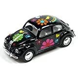 Kandy Toys Black Volkswagen Classical Beetle With Hippy Print (1967) Die Cast Metal 1:64 (hl128)