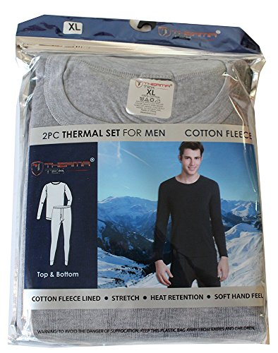 therma-tek-formerly-comfort-fit-mens-winter-thermal-cotton-fleece-top-bottom-2-pcs-set-light-gray-xl