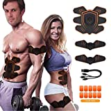 ABSTRAINER Abs Stimulator Trainer Ultimate Abs Stimulator Ab Stimulator for Men Women Abdominal Work Out Ads Power Abs Training Gear Workout Equipment Portable Stimulator Abs Belt