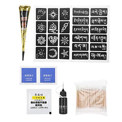 Filfeel Conos de tinta de tatuaje Pasta de tatuaje Pintura corporal Ceja Maquillaje permanente Conjunto de tinta de tatuaje