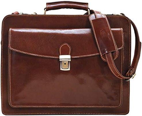 Corsica Leather Laptop Briefcase