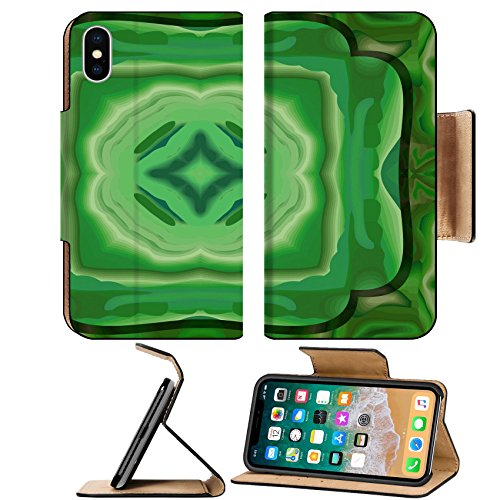 Luxlady Premium Apple iPhone X Flip Pu Leather Wallet Case IMAGE ID 21319008 Abstract malachite background seamless pattern (Belt Malachite)