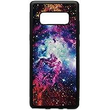 Samsung Note 8 Case, Galaxy Space Nebula Pattern Black Soft Rubber TPU Bumper Case, Customized Galaxy Note8 Beautiful Universe Milk Way Stars Case