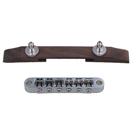yibuy Cromado 15 mm de altura de 6 cuerdas Rosewood de Jazz Guitarra tunomatic partes de