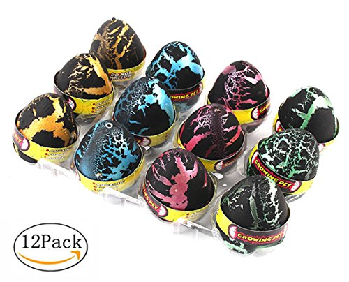 Pampel Hatch and Grow Easter Dinosaur Eggs - Novelty Hatching Toy for Kids (12 -