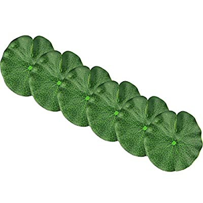 Lightingsky Artificial Floating Foam Lotus Leaves Artificial Foliage Pond Decor Pack of 6