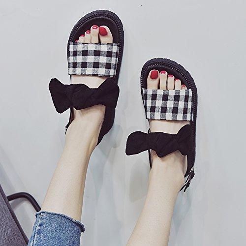 Señoras Antideslizante Calzado Zapatos Toe YMFIE Playa a de Verano de Fondo antigüedades Plano Minimalista 6ndxqgw0