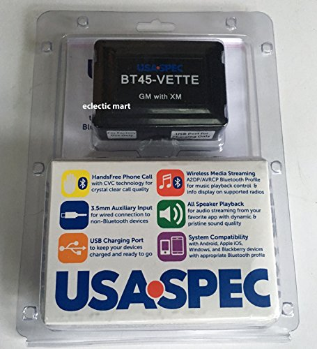 (USA Spec BT45-VETTE Bluetooth Music & Phone Interface for GM Class2 Radios with XM (Satellite Radio) Capabilities)