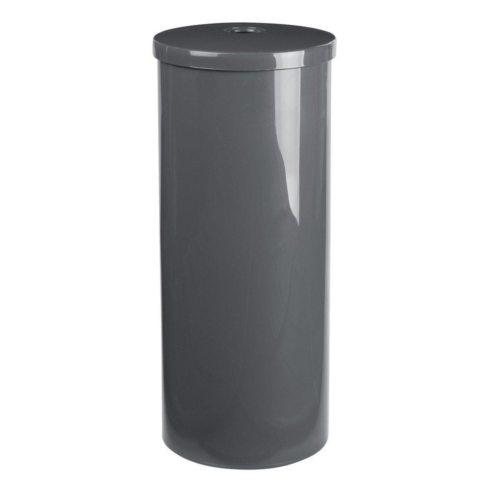 InterDesign Una Free Standing Toilet Paper Holder – Spare Roll Storage for Bathroom, Slate
