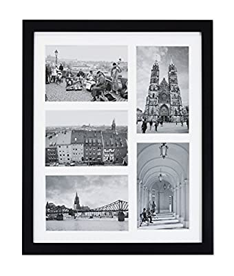 Golden State Art, 11x14 Collage Picture Wood Frame. Includes White Mat for (5) 4x6 Photo/Print
