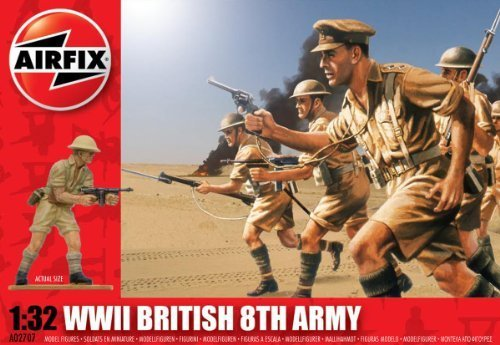 Airfix A02707 WWII British 8th Army 1 32 Scale Series 2 Plastic Figures by Airfix World War II Figures