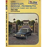 Chrysler Dodge Plymouth: Lebaron, Aries, 400 Reliant 1981 1987, Lahue, Kalton C.