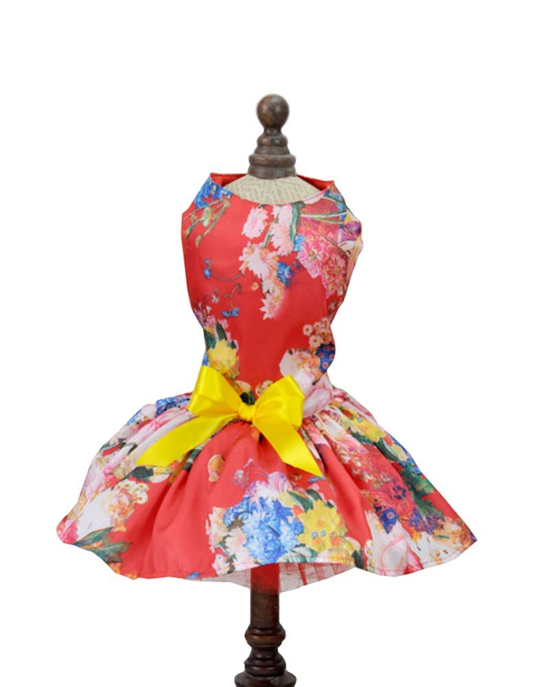 Hdwk/&Hped 9 Colors Elegant Small Dog Dress Puppy Cat Skirt Pet Summer Dress for Special Occasions #1-#5