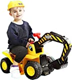 Toys : Play22 Toy Tractors for Kids Ride On Excavator - Music Sounds Digger Scooter Tractor Toys Bulldozer Includes Helmet with Rocks - Ride On Tractor Pretend Play - Toddler Tractor Construction Truck
