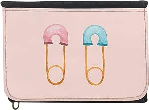 محفظة، قماش جينز،   بتصميم دبوس اطفال