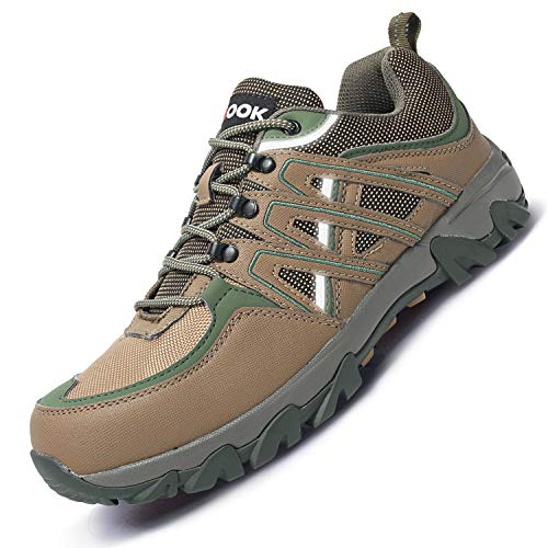 Fires Men's Work Shoes Prevent Friction Cutting Upper Brown Green 8 M US ()
