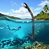 Aegend Dry Snorkel, Easy-Breath Free Diving Snorkel