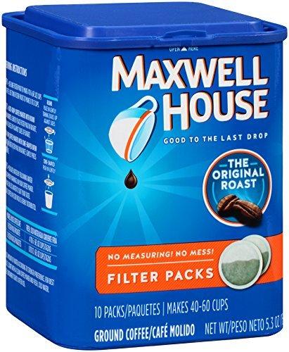 (Maxwell House Original Roast Filter Packs Ground Coffee, 6 Pack(5.3 Oz) ERFN)