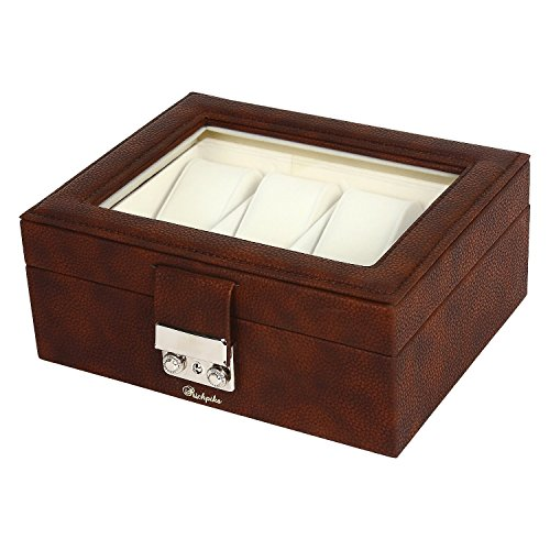 RICHPIKS Leather Watch Box For 8 Watches Christmas (Christmas Bangle Watch)