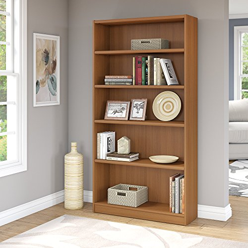 Universal 5 Shelf Bookcase in Royal Oak - Oak Tall Bookcase