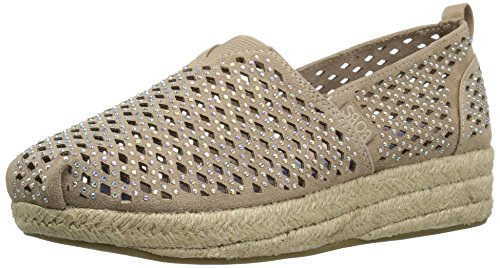 - BOBS from Skechers Women's Highlights-Glamsquad Wedge, Taupe Gem,  10 M US