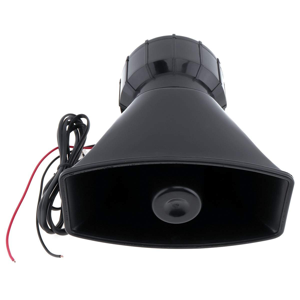 Sothat 100W Dc12V 120Db Sirena de Advertencia Electr/ónica de Coche de 7 Sonido Alarma de La Motocicleta Altavoz de Ambulancia Bomberos