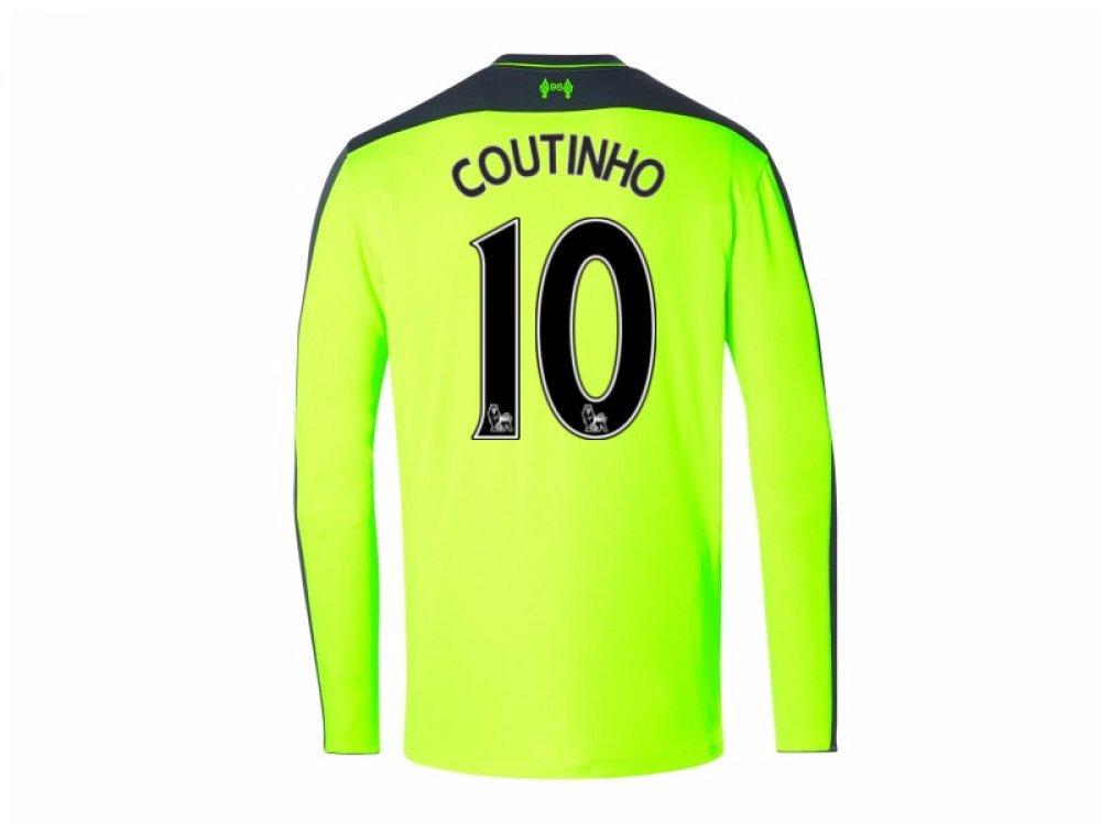 2016-2017 Liverpool Third Long Sleeve Shirt (Kids) B01M9AGVCECoutinho 10 XL
