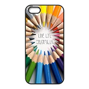 iPhone 5 5s Cell Phone Case Black quotes live life colorfully Ycrmv