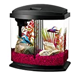 Aqueon LED Bettabow Aquarium Starter Kits with LED Lighting, 2.5 Gallon Betta, Black