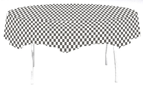 - Creative Converting 82' Blk/Wht Tablecover