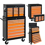Best Choice Products 16 Drawers Tool Cart Top Chest Box Rolling Toolbox Cabinets