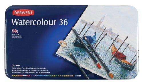 18 opinioni per Derwent Watercolour Confezione da 36 Matite Colorate Idrosolubili in Scatola di