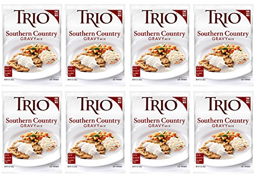 Trio Southern Country Gravy Mix, Holiday Roast, Spicy Sausage Flavor, Dehydrated, Just Add Water, 13 oz Bag (Pack of ()