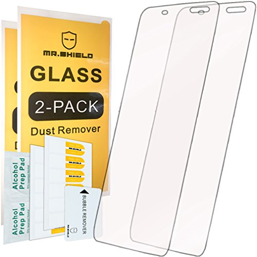 [2-PACK]-Mr.Shield For Alcatel OneTouch IDOL 4S (5.5 Inch) [Tempered Glass] Screen Protector [0.3mm Ultra Thin 9H Hardness 2.5D Round Edge] with Lifetime Replacement