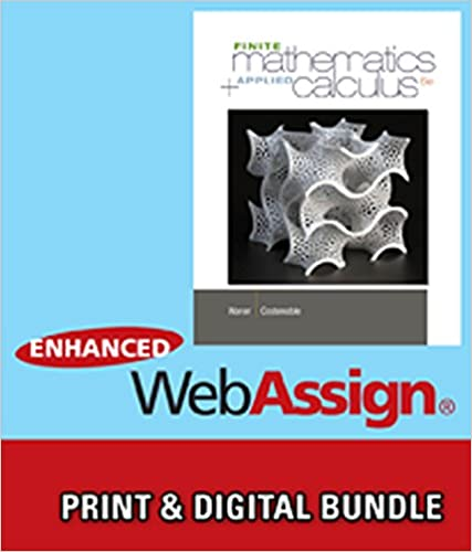 Bundle: Finite Math and Applied Calculus, 6th + WebAssign Printed ...