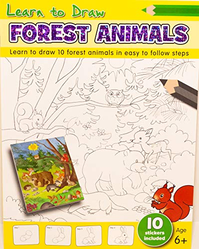 Learn to Draw - Forest Animals (A4 Learn to Draw)