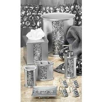 popular bath sinatra silver 5 pc bath accessory set home kitchen. Black Bedroom Furniture Sets. Home Design Ideas