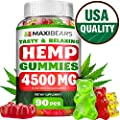 Omega 3, 6 & 9 Gummies for Stress Relief – 50 MG per Gummy, 90 count – Pain, Insomnia & Anxiety Management – Made in USA – Tasty & Relaxing Herbal Gummies – Premium Extract - Mood & Immune Support