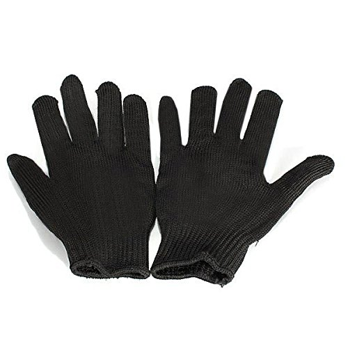 Black Stainless Steel Wire Safety Anti-Slash Gloves by Freelance Shop SportingGoods