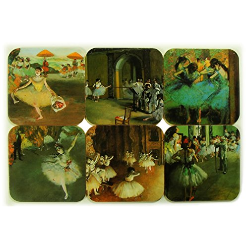 Souvenirs of France - 6 x Edgar Degas 'The Dancers' Coasters