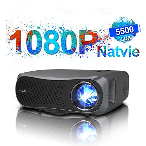1080P Projector,200 Inch Display Home Theater Projector 7000 Lumen LED HDMI Projector Support Zoom USB AV Audio VGA for…